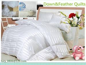 Wholesale down quilt: Duck & Goose Down Quilts / Duvet / Comforter