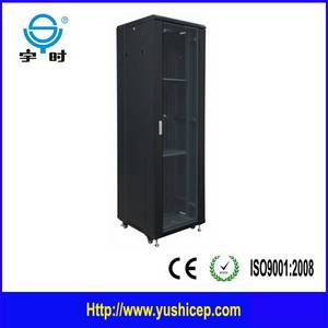 Wholesale glass cabinet: 19 Inch Network Cabinet with Glass Front Door