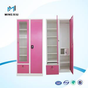 Wholesale mirror cabinet: China Supplier 2 Door Wardrobe with Mirror / Cabinet Designs for Bedroom