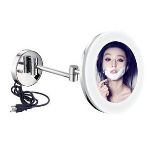 Wholesale led light makeup mirror: LY-1806D Wall Mounted Mirror with LED Light for Bathroom