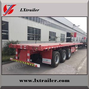 Wholesale china container: China 20ft 40ft Flatbed Container Semi Trailer