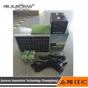 Wholesale Solar Energy Systems: Mini Solar Generator Solar Power Kit with MP3 12v DC Home Appliances