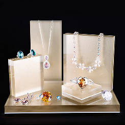 Wholesale jewellery set: Durable Necklace and Ring Jewellery Display Stand Acrylic Jewellery Display Set