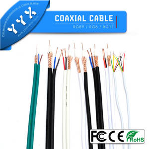 Wholesale surveillance camera cable: Siamese Coaxial Cable RG59 with Power for CCTV Cameras