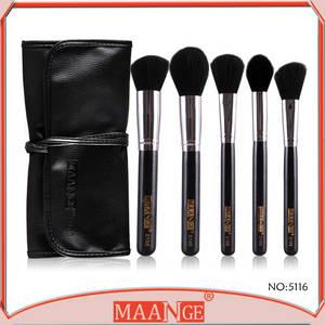 Wholesale makeup products: New Product Top Quality 5pcs Makeup Brush Set/Kit with Black Bag