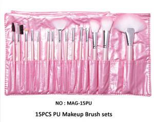 Wholesale makeup tools: MAANGE 15 Piece Professional Belt Makeup Brush Cosmetic Tool