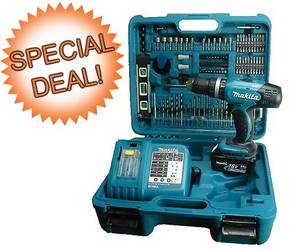 Wholesale runners: Makita BHP453RFTK 18V Li-Ion Combi Drill (101 Piece Kit)