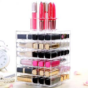 Wholesale acrylic makeup display rack: Customized Makeup Cosmetic Lipstick Display Stand Rack Cosmetic Display
