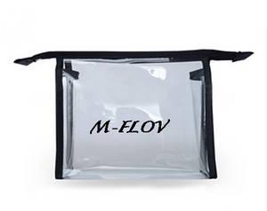 Wholesale pvc cosmetic bag: Transparent PVC Cosmetic Bag for Promotion (MF-CB 002)