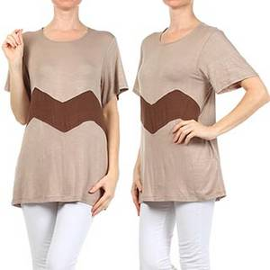 Wholesale Ladies' Blouses: Charlie Brown Stripe Loose Fit Top Blouse Mlinde Apparel