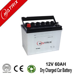 Wholesale dry battery: 12v 60ah Dry Charged Car Battery Wholesale