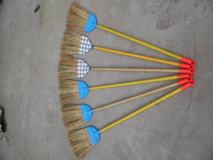 Wholesale Brooms & Dustpans: Sorghum Broom with Plastic Shell