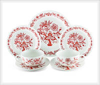 Zwiebelmuster RED Dinner Set 7P of A Teacup