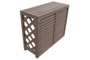 Wholesale Other Garden Supplies: High Quality Wood Plastic Composite WPC Decorative Air Conditioner Cover