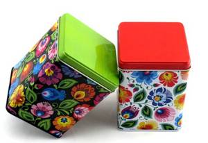 Wholesale food tin: Small Square Food Tin Box for Chocolate Packaging