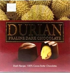 Wholesale chocolate: 100% Real Durian Praline in Dark Chocolate