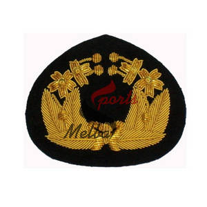 Wholesale caps gold: Bullion Embroidered Cap Badge