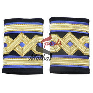 Wholesale embroidery badges: Merchant Navy Chief Engineers Epaulettes