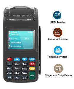 Wholesale digital barcode scanner: YK600 EKEMP Handheld Mobile POS Terminal Bar Code Scanner and Built-in Printer