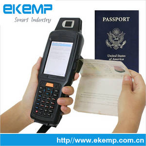 Wholesale russian companies for petrochemicals: X6 EKEMP Android PDA with Passport Reader/MRZ OCR Scanner
