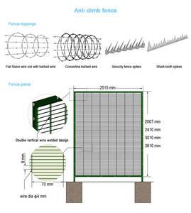 Wholesale raw bolt: Anti Climb Fence