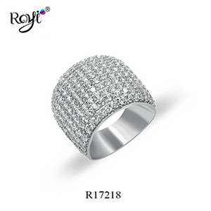 Wholesale Rings: Classic 925 Sterling Silver Large Ring