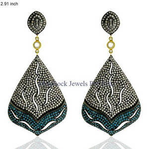 Wholesale diamond earrings: Designer Filigree Diamond Pave Earring