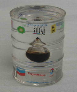 Wholesale gifts: Promotional Gift--Lucite Barrel with Oil Drop