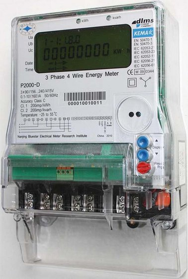 Three Phase Electricity Meter : Kema certified phase meter b id product