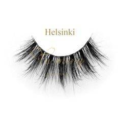 Wholesale eye makeup: The Eye Makeup Natural 3D Mink Fur Eyelashes with Clear Band TD24