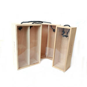 Wholesale wooden wine box: Natural Pine Wooden Wine Box for Single, Two, Three or More Bottles