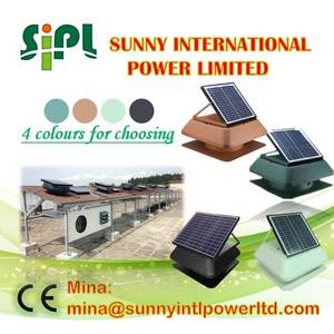 Wholesale solar controller: New (Solar) Panel Powered Air Conditioner with Control Panel Attic Air Ventilation Fan Poultry Farm