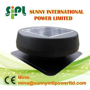Wholesale air cooler: 15Watt 14Inch Environmental Friendly Solar Ventilation Fan Energy Saving Solar Roof Air Cooler