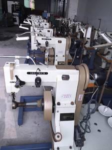 Wholesale shoe making machine: Double Needle Lock Stitch Seated Type Shoe-border Insole Sewing Making Machine