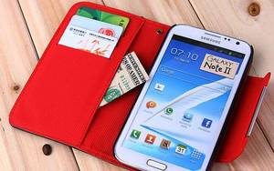 Wholesale security system: Wallet Case for Samsung Note 2 N7100
