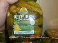 Pickled Gherkins 3-6 Cm in 1500ml Jars