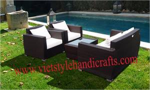 Wholesale sofa: Wicker Best Design Sofa Set ,Outdoor  Furniture with Best Price with Steel /Aluminum Frame in Viet N