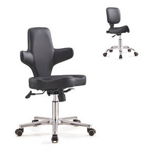 Wholesale used clothing dubai: Top Grade Black Leather Saddle Stool Cross Back Salon Master Chair