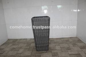 Wholesale rattan furniture: Hot New Product for 2015: Square Rattan Plastic Planter for Home Decoration and Home Furniture