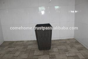 Wholesale rattan: Hot New Product for 2015: Square Rattan Plastic Planter for Home Decoration and Home Furniture