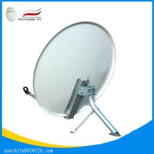 Wholesale satellite antenna: Ku Band 75*82cm 30-inch Offset Galvanized Steel Satellite Dish Antenna for Free To Air