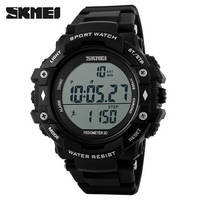 Mens Military Digital Sport Watch Stopwatch Pedometer Feature Rubber Band Outdoor Watch