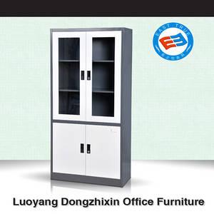 Wholesale glass cabinet: Swing Glass Double Door Filing Cabinet