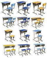 Top Sale Used School Furniture, Adjustable School Desk and Chair