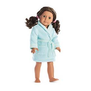 Wholesale lighting: Light Blue Doll Clothes Night-robe for 18 Inch Dolls