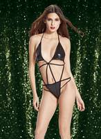 Sell Ladies Halter neck Sexy Three-Point Fishnet Teddy