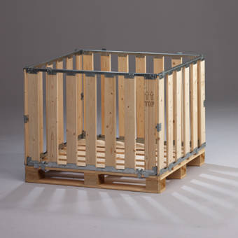 Collapsible Box Pallet Walls From Mp Packaging Netherlands