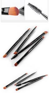 Wholesale makeup brush: 4pcs Synthetic Hair Double-end Eye Makeup Brush Set