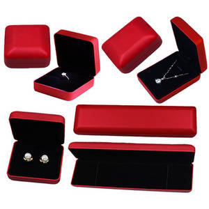 Wholesale jewellery: Red Metal Jewelry Boxes Travel Jewellery Boxes