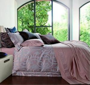 Wholesale cotton bed linen sets: Twill Jacquard Style Bamboo Bedding Sets Luxury Palace Cotton Comforter Cover Quilt Cover Bed Linen
